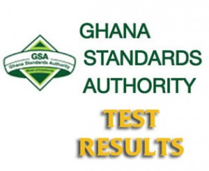 Ghana Standards Board TEST RESULTS
